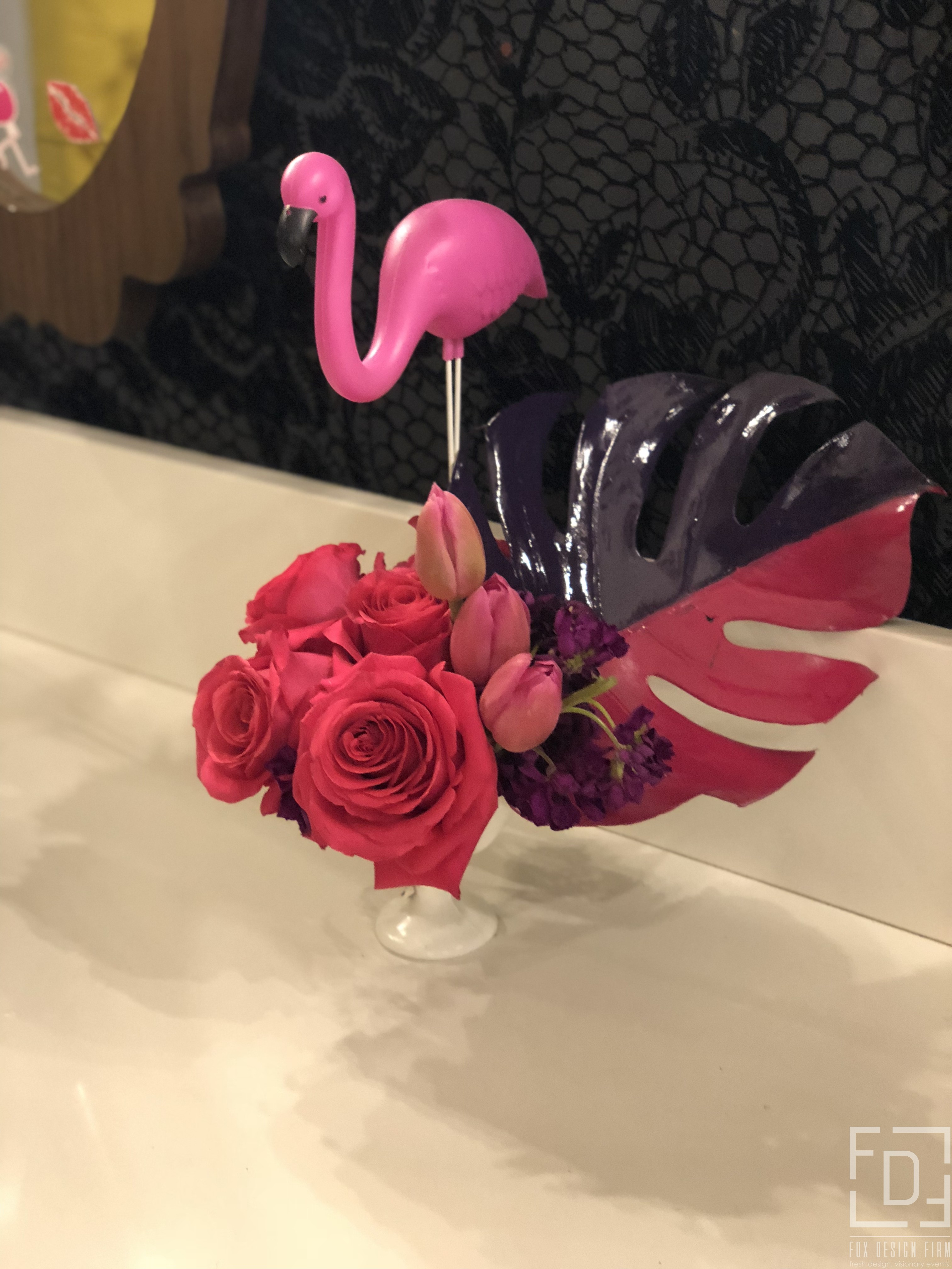 flamingo flower centerpiece
