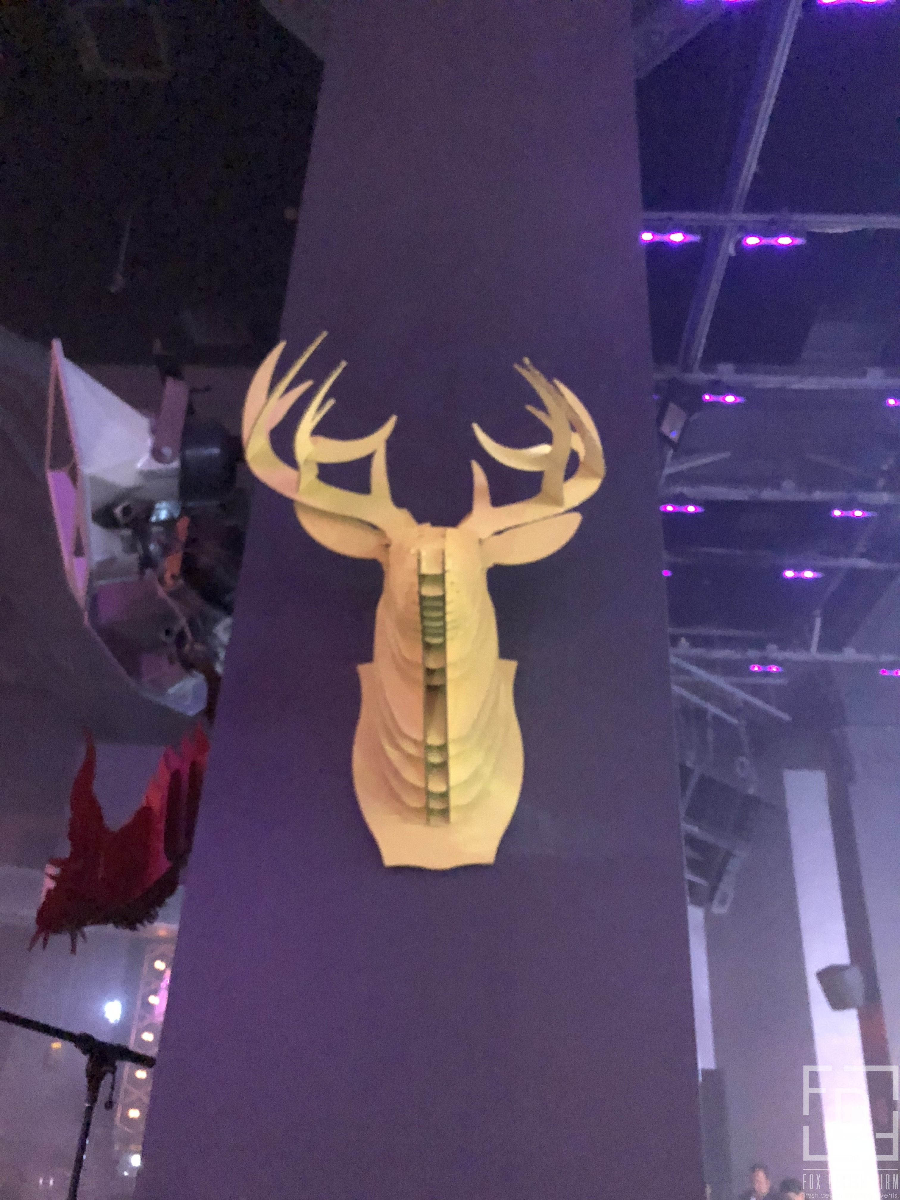 cardboard deer head event design